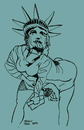 Cartoon: Twerking in the USA (small) by Toonstalk tagged twerking,mylie,cyrus,usa,statue,of,liberty,dancecraze,erotic,sexual,vma,video,music,awards,voyeurism,sensual
