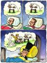 Cartoon: business man and insomnia (small) by corne tagged business,man,insomnia,dreams,money,rich,