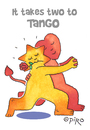 Cartoon: Tango (small) by piro tagged tango,couple,dance