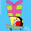 Cartoon: Santa Car (small) by Piero Tonin tagged merry,christmas,buon,natale,feliz,navidad,joyeux,no