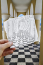 Cartoon: Pencil Vs Camera - 37 (small) by BenHeine tagged art,ben,heine,arcade,architecture,benheine,arch,checkmate,chess,drawing,vs,photography,game,hand,imagination,reality,king,paper,pencil,camera,play,queen,samsung,imaging,the,artistery