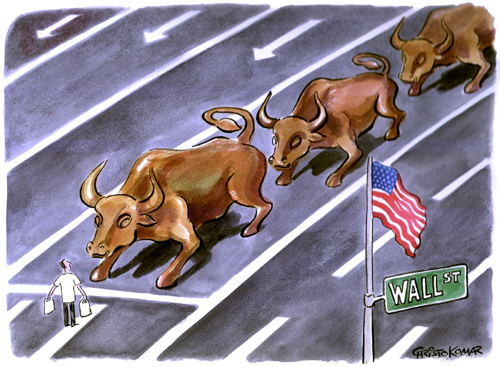 Cartoon: Occupy Wall street (medium) by Christo Komarnitski tagged street,wall,square,tiananmen