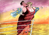 Cartoon: EURO -Titanic (small) by Christo Komarnitski tagged euro,titanic,europe,angela,merkel,france,sarkozy