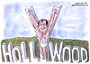 Cartoon: Mel Gibson Crucified (small) by Christo Komarnitski tagged mel,gibson,hollywood,entertainment