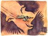 Cartoon: Vultures in the Libyan desert (small) by Christo Komarnitski tagged moammar,gadhafi,libya,oil,war,europe,world