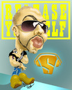 Cartoon: Roger Sanchez (small) by Fredy tagged roger,sanchez,dj,the,man,release,yourself