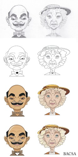 Cartoon: Making of Poirot and Marple (medium) by bacsa tagged making