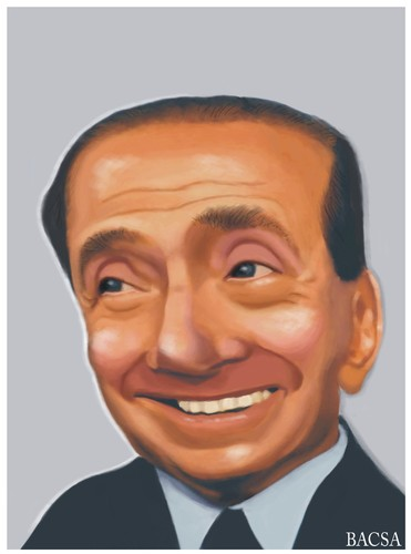 Cartoon: Silvio Berlusconi (medium) by bacsa tagged berlusconi