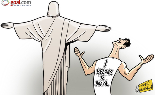Cartoon: Kaka I belong to Brazil (medium) by omomani tagged kaka,brazil