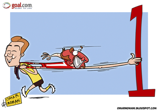 Cartoon: Oh! Dortmund (medium) by omomani tagged bayren,munich,bundesliga,dortmund,france,germany,gotze,ribery