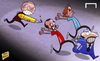 Cartoon: Ferguson pen (small) by omomani tagged ferguson,hargreaves,manchester,united,rafael,benitez,roy,keane