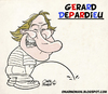 Cartoon: Gerard Depardieu (small) by omomani tagged gerard,depardieu,france,actor,calvin,and,hobbes,cyrano,de,bergerac,green,card