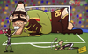 Cartoon: Massimiliano Benassi (small) by omomani tagged benassi,inter,milan,italy,lecce,netherlands,pazzini,serie,sneijder