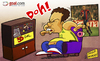 Cartoon: Messi gobbles up Ronalos record (small) by omomani tagged barcelona,brazil,la,liga,messi,ronaldo,spain