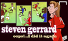 Cartoon: Oops! I did it again Gerrard (small) by omomani tagged arsenal,chelsea,demba,ba,drogba,henry,liverpool,premier,league,steven,gerrard