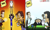 Cartoon: Platini (small) by omomani tagged david,bowie,euro,2012,cup,france,iggy,pop,lou,reed,michel,platini