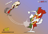 Cartoon: Ricardo Carvalho out (small) by omomani tagged ricardo,carvalho,real,madrid,portugal,la,liga,spain