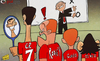 Cartoon: Rooney shocked at Ronaldo (small) by omomani tagged cristiano,ronaldo,ferguson,manchester,united,rooney,scholes,tevez