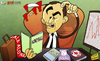 Cartoon: Show me the Moneyball (small) by omomani tagged liverpool,roberto,martinez