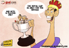 Cartoon: The Real Cup (small) by omomani tagged copa,del,rey,cristiano,ronaldo,mourinho,di,maria,real,madrid,spain,portugal,barcelona,argentina