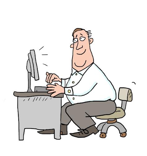 Bürotisch clipart  büro angestellter Versicherung yapan sabine voigt   Ekonomi Cartoon ...