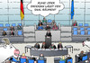 Cartoon: Bundestag Erdogan (small) by Erl tagged bundestag,debatte,flüchtlinge,türkei,abkommen,deal,schmähgedicht,böhmermann,erdogan,vortrag,ziegen,karikatur,erl