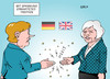 Cartoon: Merkel May (small) by Erl tagged brexit,großbritannien,austritt,eu,premierministerin,theresa,may,tories,besuch,deutschland,bundeskanzlerin,angela,merkel,spannung,britzeln,funken,karikatur,erl