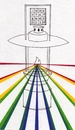Cartoon: Shed Light (small) by robobenito tagged lantern,drawing,light,spectrum,shed,pen,pencil,ink,color,torch,wisdom,learning,shine,shining,illumination,glow,beams,numbers,puzzle,flame,sight,vision,truth,justice,path,rainbow,full,brilliant