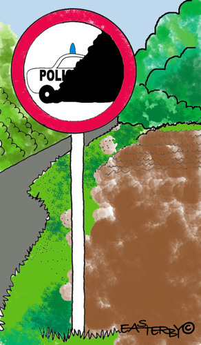 Cartoon: Road Signs 9 (medium) by EASTERBY tagged road,works,signs