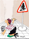 Cartoon: CLEANER (small) by EASTERBY tagged handwerk,clean,putz