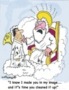 Cartoon: Heavenly annoyance (small) by EASTERBY tagged heaven god angels
