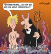 Cartoon: Herr Teufel (small) by EASTERBY tagged devil hellfire young lady