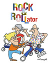 Cartoon: ROCK and ROLLator (small) by EASTERBY tagged seniorentanz,rollatoren