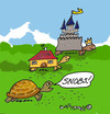 Cartoon: Snobs (small) by EASTERBY tagged tortoises,houses