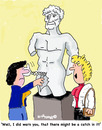 Cartoon: Watch out (small) by EASTERBY tagged statues museums