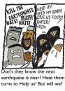 Cartoon: When will they ever learn (small) by EASTERBY tagged hate,love,help,aid