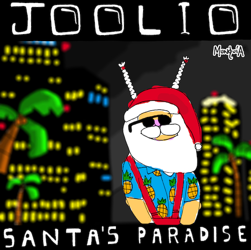 Cartoon: Santas Paradise (medium) by Munguia tagged gangstas,paradise,gangsters,xmas,coolio,album,cover,parody,parodies,spoof,version,fun