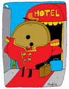 Cartoon: Botones (small) by Munguia tagged botones,hotel,munguia,calcamunguias,lobby,hall