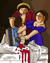 Cartoon: Credit Card (small) by Munguia tagged credit,card,judith,slaying,holofernes,artemisia,gentileschi,parody,famous,painting,parodies