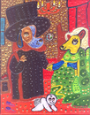 Cartoon: Doggofini marriage (small) by Munguia tagged dogs,van,eyck,arnolfini,perros,woof,marriege,pregnancy,baby