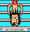 Cartoon: Dont try this at home Charly (small) by Munguia tagged charly,garcia,pixel,art