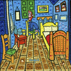 Cartoon: El Cuarto de Van Gogh (small) by Munguia tagged cuarto,quarter,van,gogh,arles,room,bedroom,parody,famous,paintings,iconic,spoof,art,classic,fine