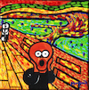 Cartoon: El Ne Grito (small) by Munguia tagged scream,black,negrito,grito,edvard,munch,expresionismo,parodia,famous,paintings,parodies,cartoon,style