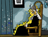 Cartoon: Electric Chair (small) by Munguia tagged arrangement,in,grey,and,black,no,james,mcneil,whistler,whisters,mother,famous,paintings,parodies,horror