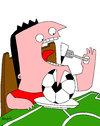 Cartoon: FoodBall 2nd version (small) by Munguia tagged food,fast,soccer,football,munguia,costa,rica,ball,dinner,lunch,monchis,fan,foot