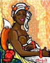 Cartoon: Foxy love (small) by Munguia tagged marie,guillemine,benoist,portrait,une,negresse,black,woman,slave,1800