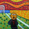 Cartoon: Goal (small) by Munguia tagged the,scream,el,grito,edvard,munch,famous,paintings,parodies,parodias,de,pinturas,famosas