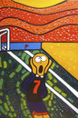 Cartoon: GOOOOL (small) by Munguia tagged the,scream,munch,bridge,bruke,goal,soccer,futbol,munguia,costa,rica,world