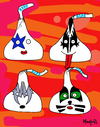 Cartoon: Kisses (small) by Munguia tagged kiss,kisses,hersheys,besos,besitos,the