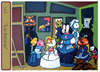Cartoon: Las Mininas (small) by Munguia tagged famous,paintings,parodies,munguia,cats,parody,comic